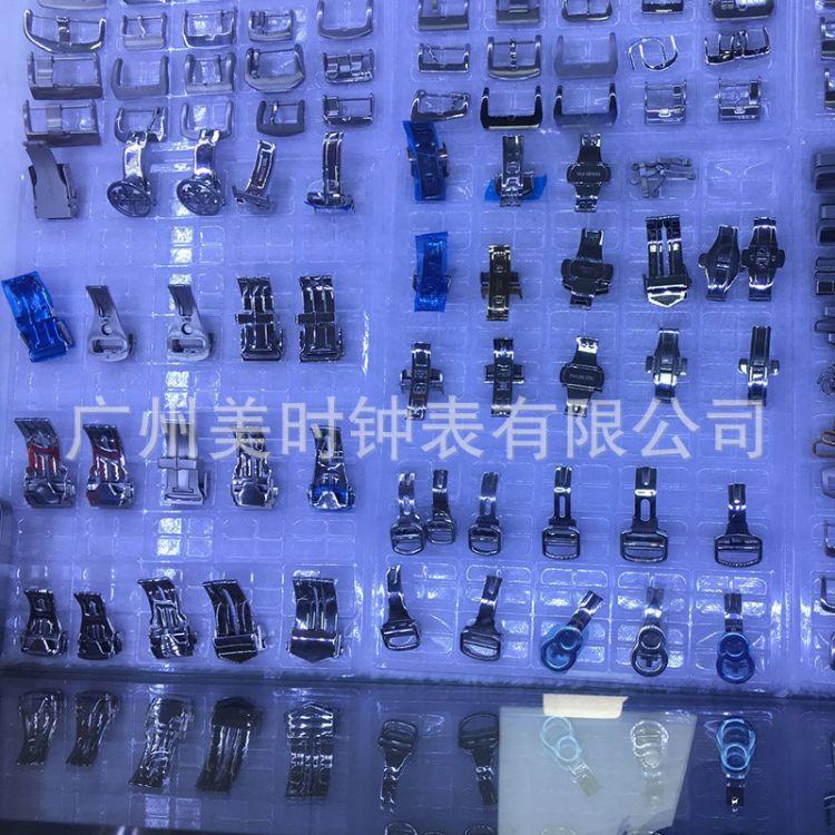 厂家定制做手表配件表扣皮带扣鱼鳞不锈钢双按自动蝴蝶扣针扣品牌