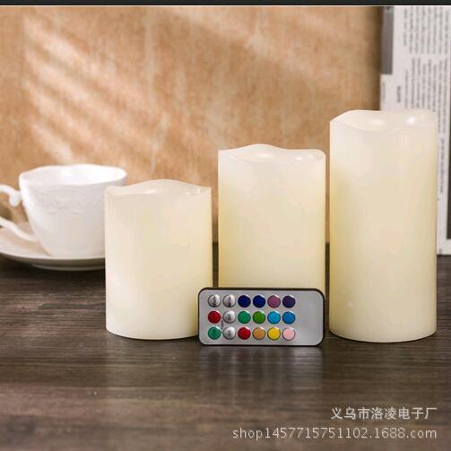 创意18键遥控电子蜡烛灯 LED仿真蜡烛 石蜡 生日婚庆布置道具