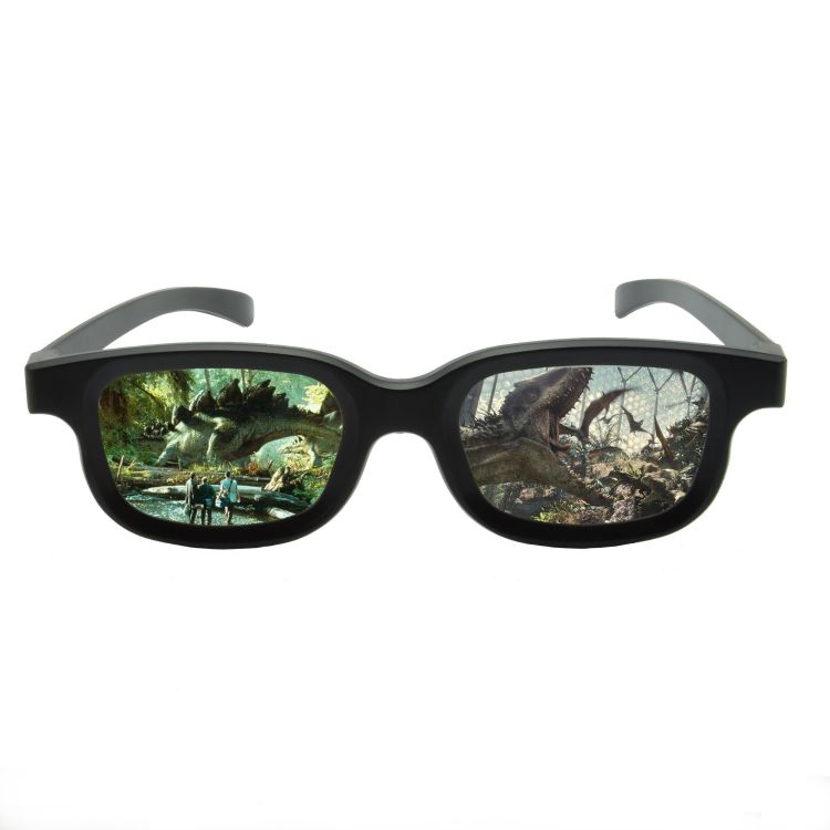 厂家直销电影院电视专用新款3d眼镜偏光立体不闪式REALD加厚眼镜