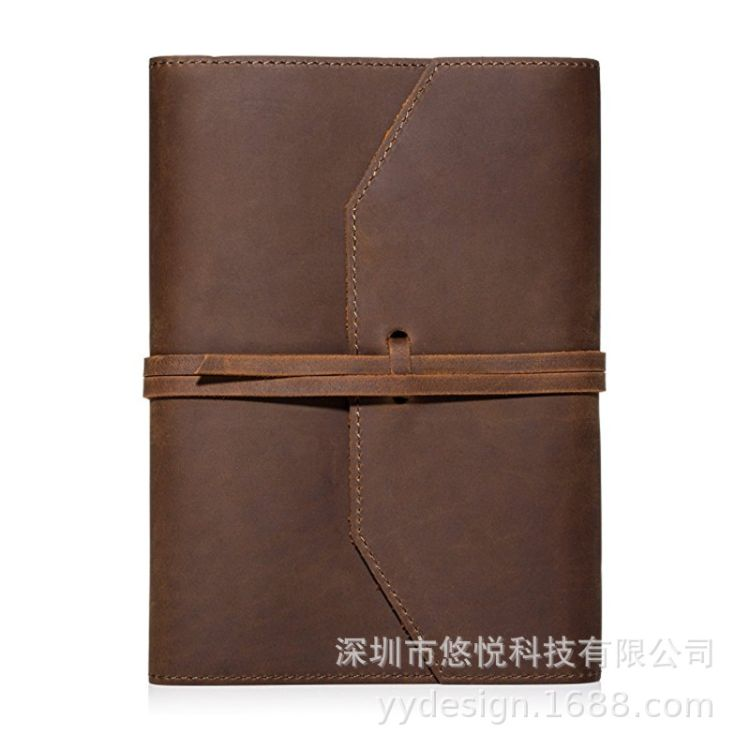 厂家定制 头层真皮笔记本皮套 复古皮革手工活页记事本 定制LOGO