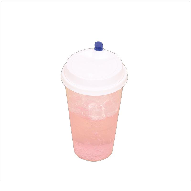 苏州顺洁欣-带盖杯子 可加工定制优质商家特价现货促销变色冷饮奶茶杯带盖杯子