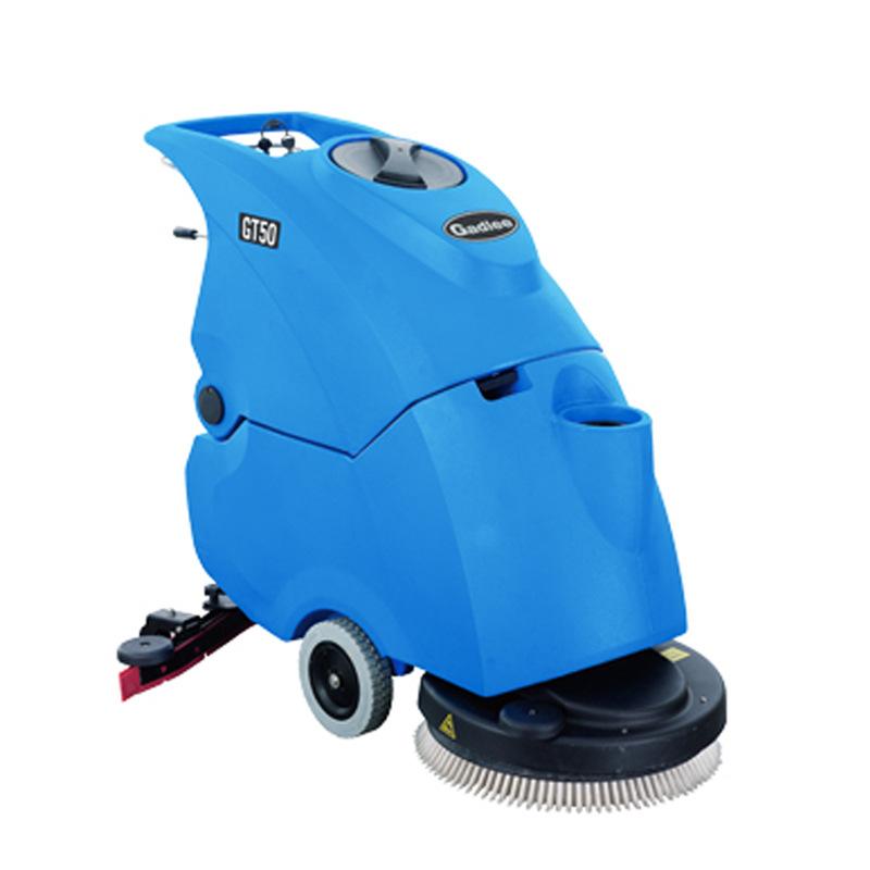 手推式洗地机 嘉得力GT50物业超市餐厅食堂地面清洗用 自动洗地机