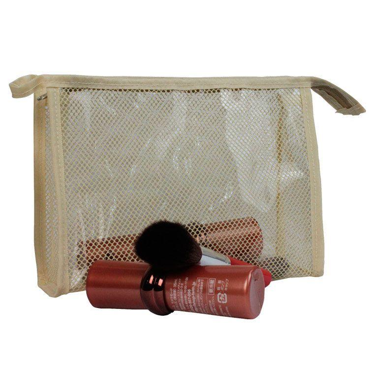 工厂定制网纱化妆包 厂价直销涤纶网纱手拿化妆包