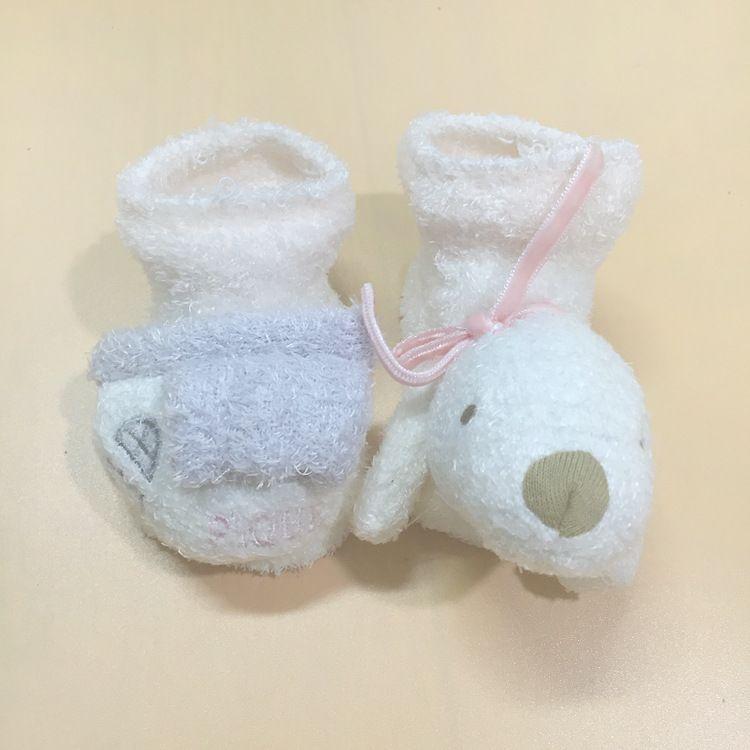 工厂直销 软绵绵 可爱小狗头  婴儿防滑鞋袜保暖