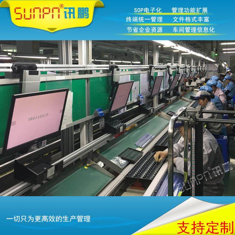 讯鹏牛工厂电子作业指导书机加工操作视频图片文字通知信息播放器