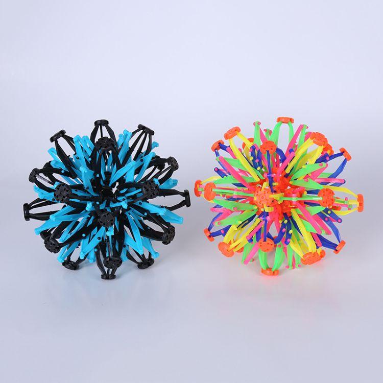 厂家批发儿童玩具 伸缩球五彩花球 手抓散花球百变魔术球地摊货源
