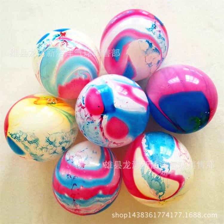 10寸彩云气球外贸婚庆生日玛瑙儿童玩具云朵加厚圆形拱门气球批发