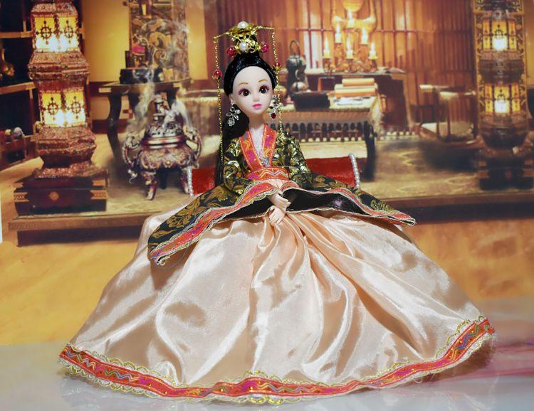 中国古装洋娃娃贵妃宫廷仙子衣服套装12关节30cm女孩公主玩具仿真