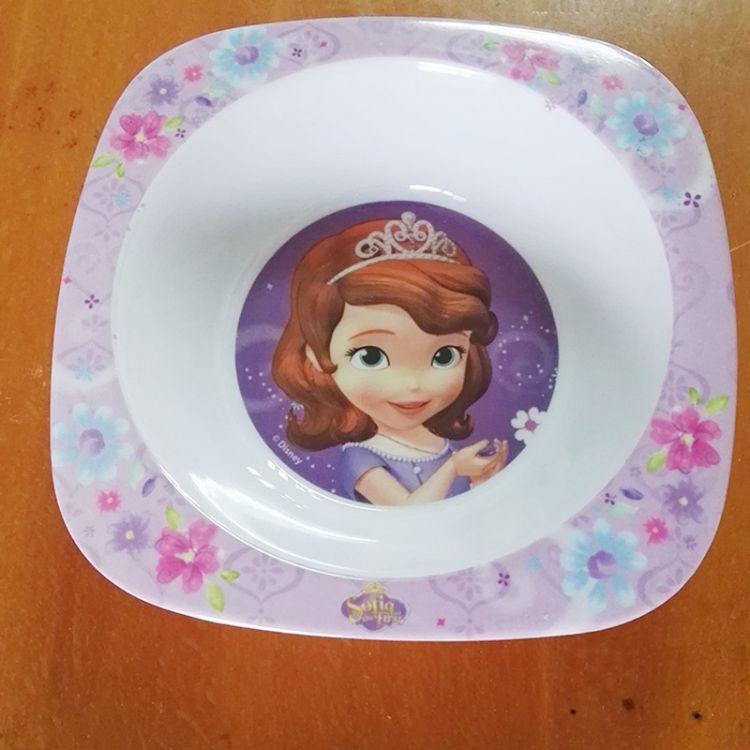 密胺儿童餐具 厂家直销 泉州原产健康盘勺套装 卡通可爱餐具批发