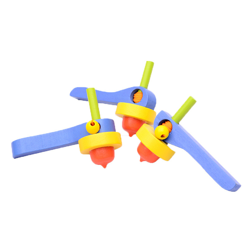 云和木制玩具3-6-7-14岁儿童少年木制手转拉线战斗陀螺玩具批发