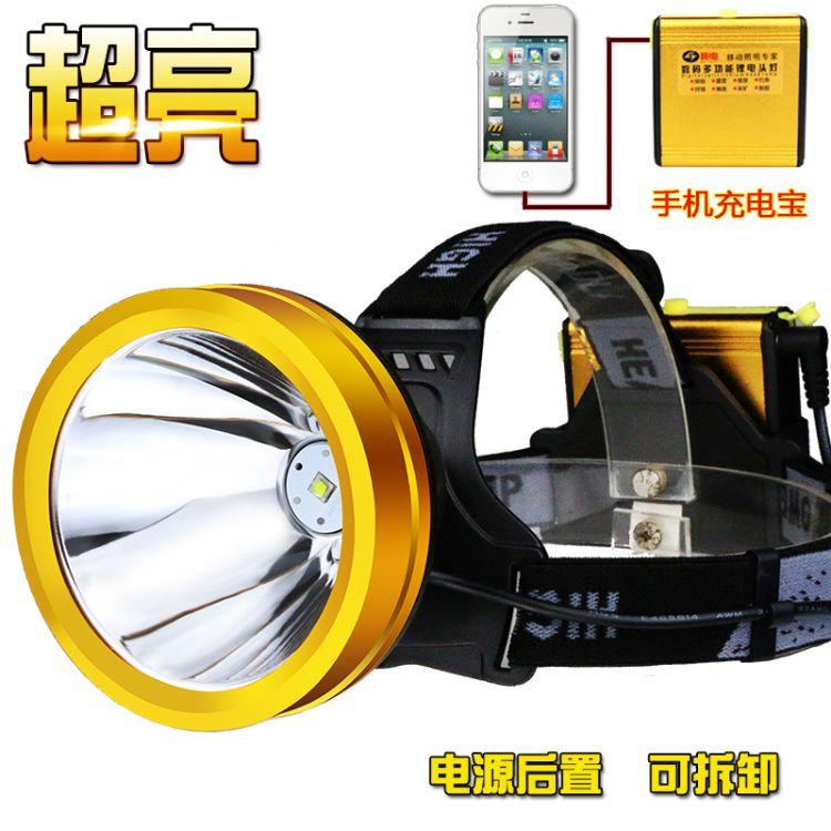 头灯强光超亮USB充电LED头戴电筒防水钓鱼灯猎灯锂电池矿灯户外