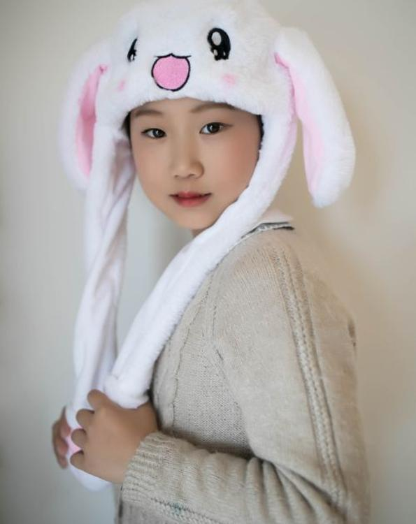 厂家直销-抖音同款兔帽会动耳朵帽子毛绒气囊网红帽男女儿童礼物