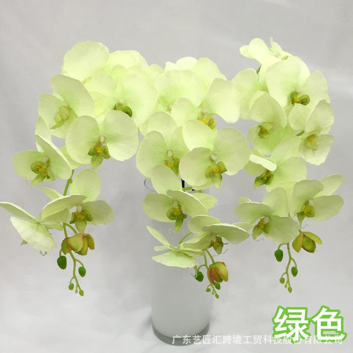广州仿真花蝴蝶兰套装盆景批发 客厅装饰盆栽摆件假花束绢花厂家