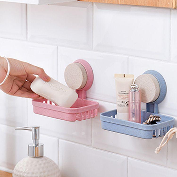 肥皂盒吸盘壁挂大号香皂盒创意沥水皂盒卫生间肥皂架免打孔香皂架