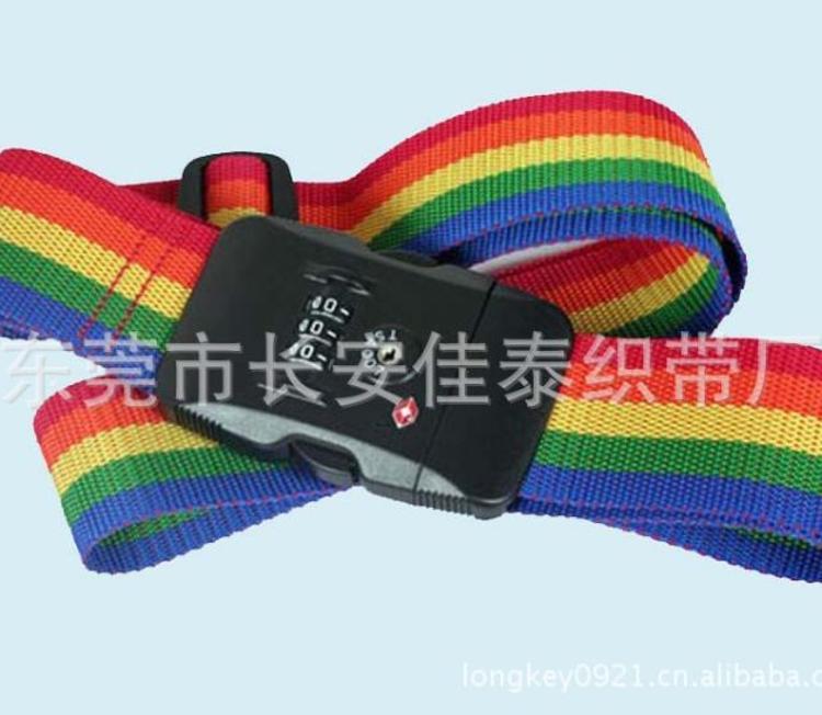 厂家供应间色密码箱包带 旅行箱绑带 印刷箱包加固带 行李绑带