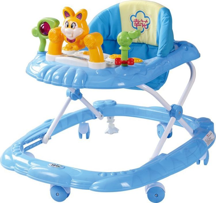 富裕新款幸花8026婴儿学步车 兔子玩具音乐盒  带刹车 质量保证