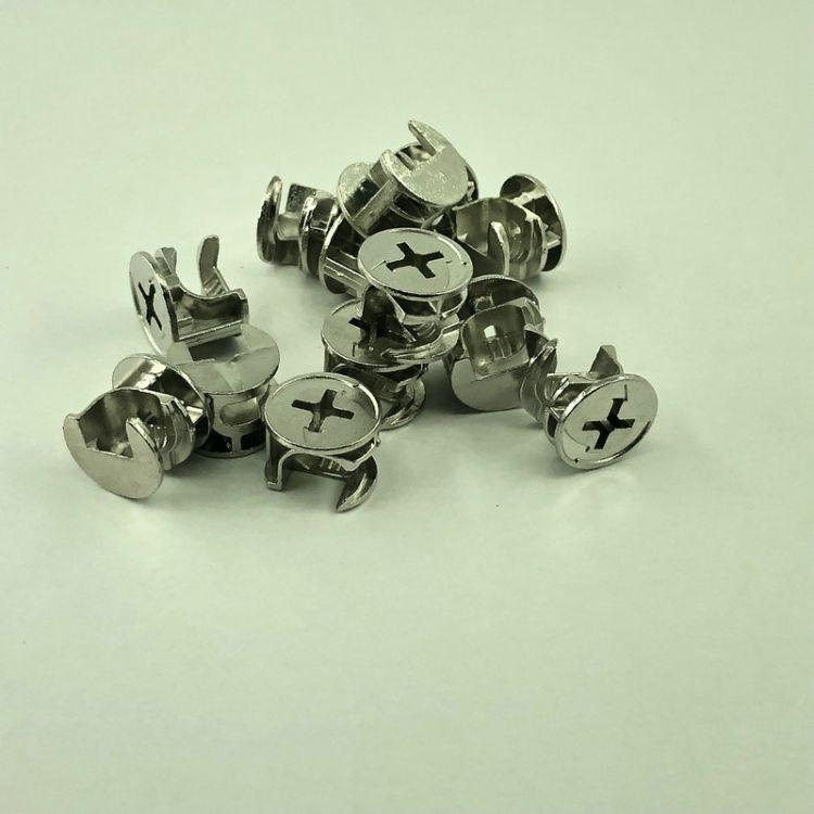 文信五金 三合一偏心轮 三合一连接件螺丝偏心轮 连接组装配件轮4g