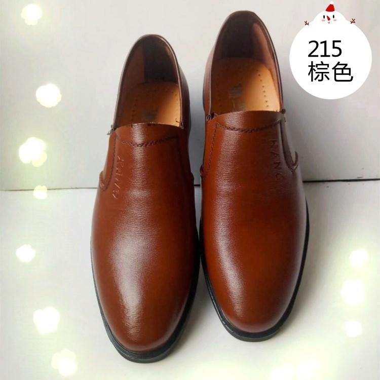 精品男士真皮皮鞋2018新款产品蒙古公牛休闲时尚皮鞋厂家直销