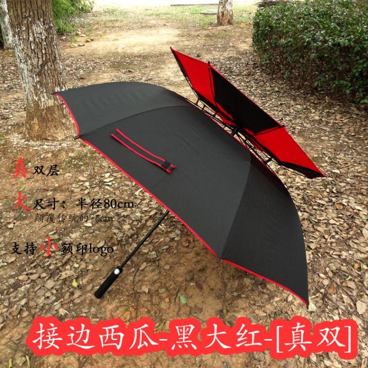 宝马30寸雨伞新款双层全纤维高尔夫伞8k超大防风自动雨伞男广告伞