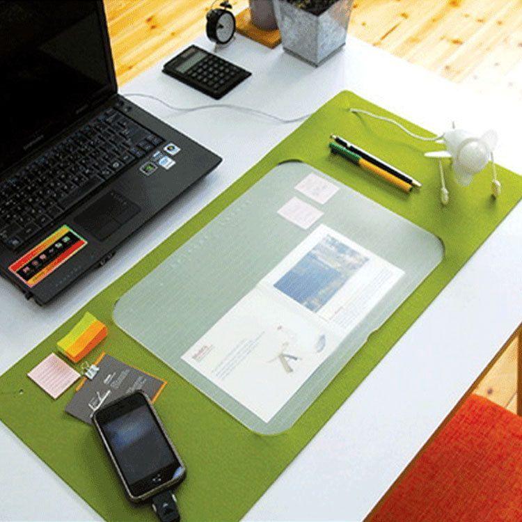厂家批发多功能毛毡鼠标垫 定制办公桌垫 韩版桌面键盘垫 加logo