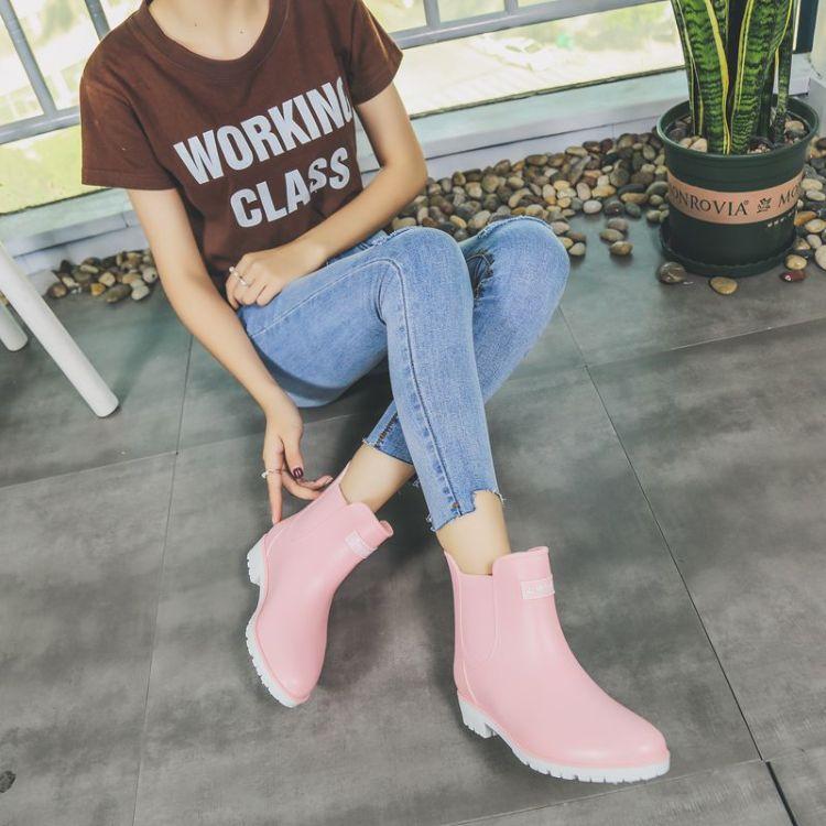 雨鞋女韩国短筒低帮雨靴防滑耐磨水鞋工作厨师胶鞋防水时尚套鞋