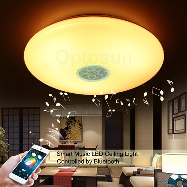 蓝牙音乐吸顶灯 RGBW七彩变色吸顶灯 手机智能控制灯具 卧室灯饰