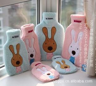 冬日必备~砂粉糖兔热水袋/暖手宝 可脱卸拆洗 2色可选