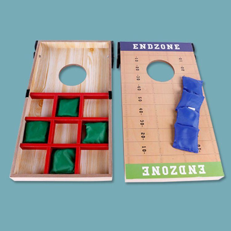外贸单 扔沙包游戏 幼儿园小学体育健身沙包投掷板套装木质