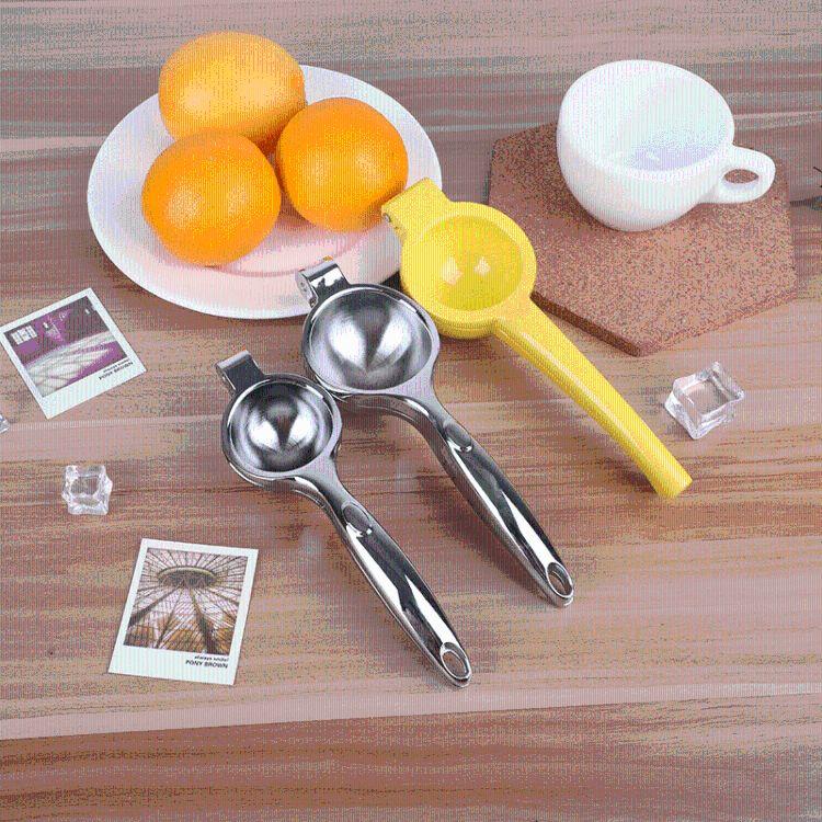厂家直销多功能合金柠檬榨汁器加厚不锈钢手动水果榨汁器柠檬夹