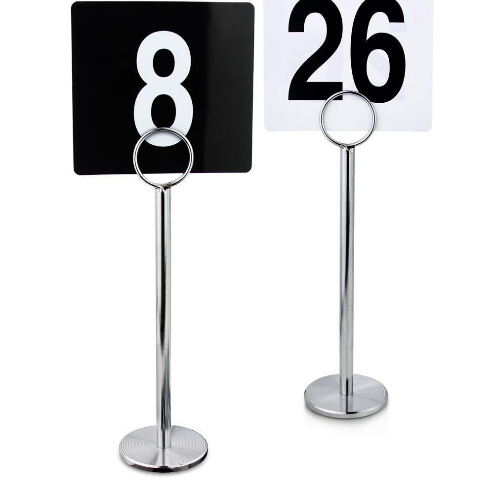 号码夹卡片桌台号牌广告牌不锈钢夹桌号夹价格牌双面支架餐桌席位