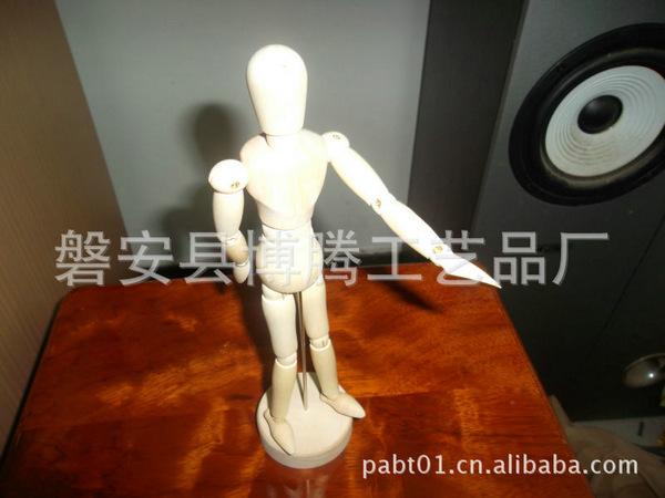 厂家热销(加工定制)彩绘木偶人 现货批发来图样可定制