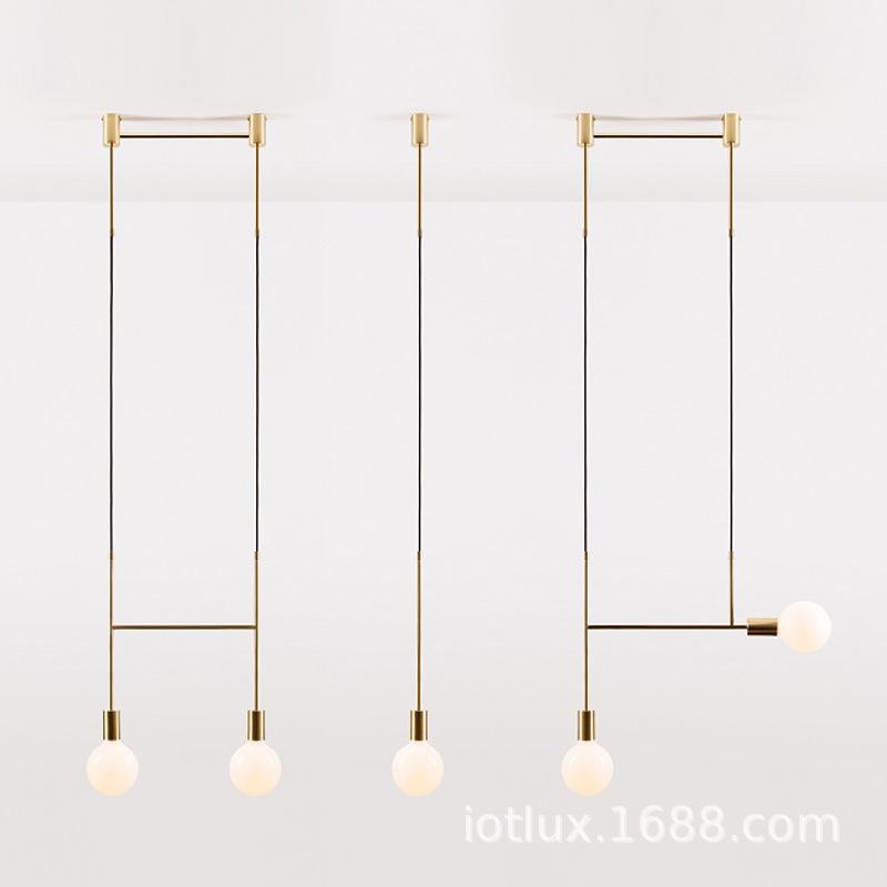 天津软装灯具 北欧个性线条吊灯 客厅吧台橱窗酒店吊灯