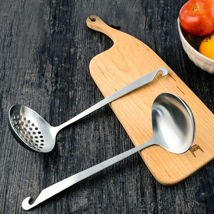 厨房工具厨具304不锈钢勺子火锅汤勺漏勺礼品可定制LOGO