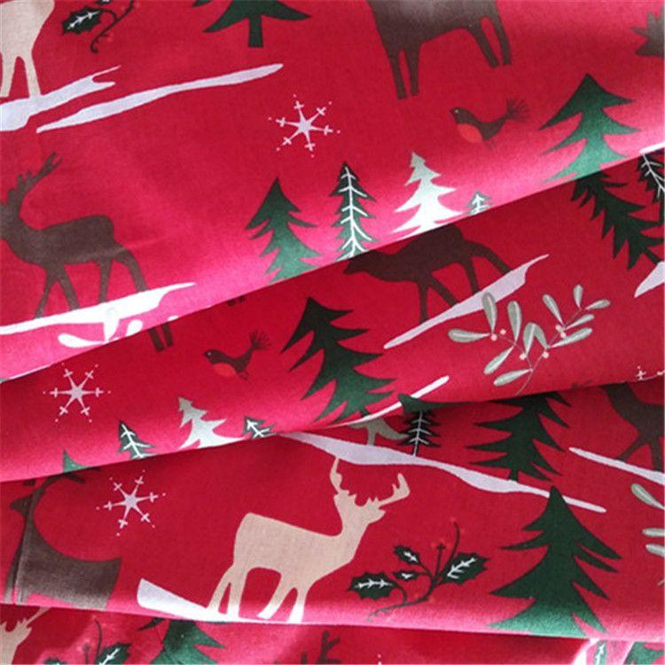 厂家直销 纯棉印花圣诞系列 桌布 抱枕 手工DIy 柳编工艺品用布
