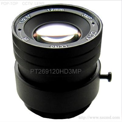 300万高清镜头12mm,监控镜头,光学镜头,高清网络摄像机镜头