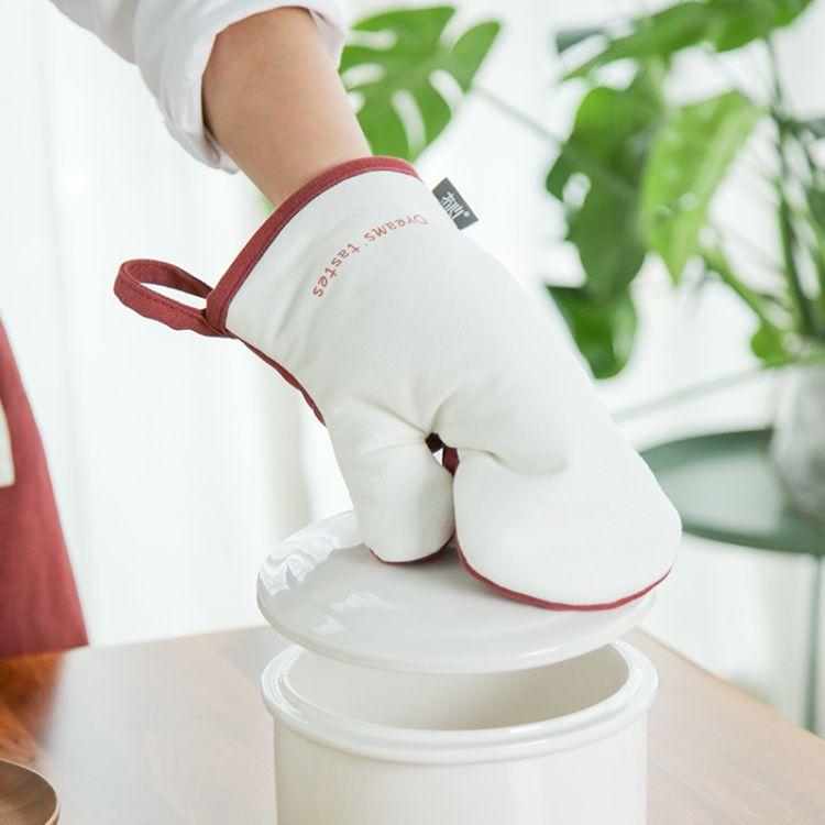 墨森隔热手套微波炉厨房烤箱加厚烘焙防水防滑纯棉可爱防烫手套