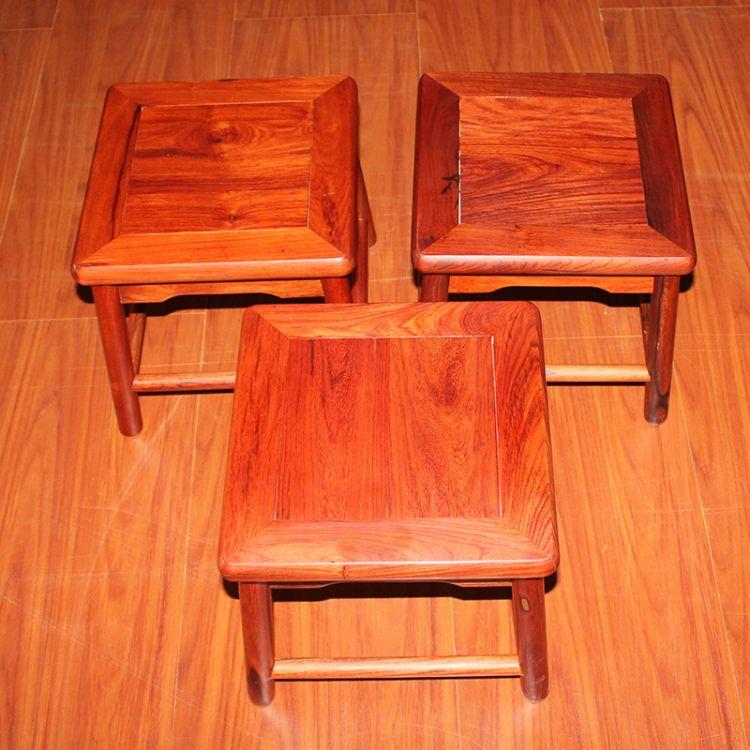 厂家直销五子登科小方凳 大果紫檀仿古明清小方凳 矮凳古典实木凳