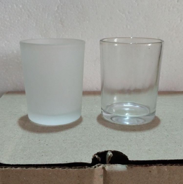 diy蜡烛材料 玻璃烛台 小圆杯 磨砂杯 香薰蜡容器 果冻蜡烛杯