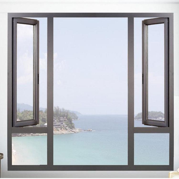 南充平开窗价格 盐城平开窗定做 铝合金门窗别墅酒店窗 来图定做