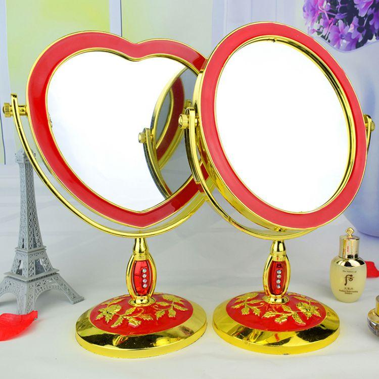 婚庆镜子 新娘嫁妆化妆镜 婚庆用品台式镜子 欧式双面梳妆镜