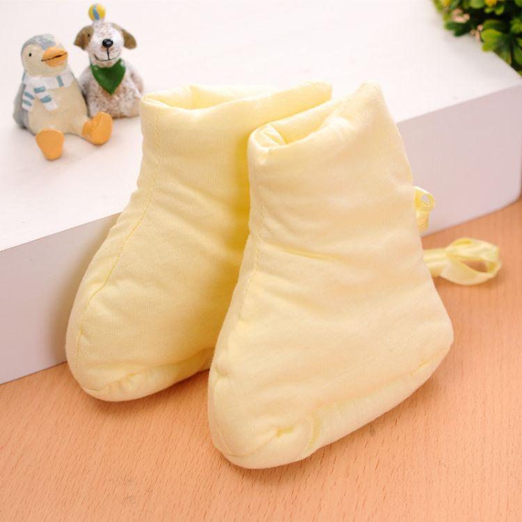 秋冬季新款纯棉系带保暖棉鞋 婴儿糖果鞋 超柔透气三色宝宝护脚套