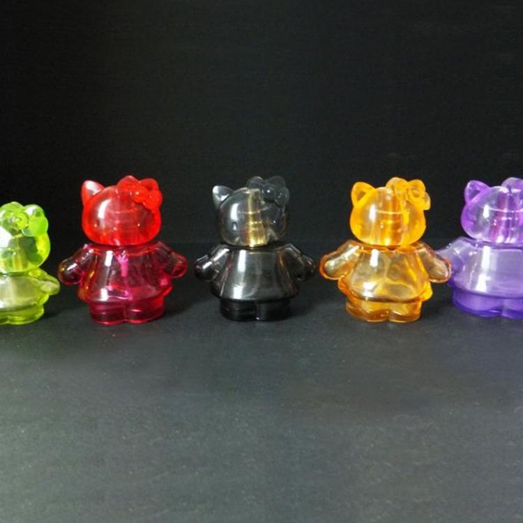 高档亚克力喷雾瓶子可爱卡通创意造型保湿纯露瓶彩色玻璃喷雾瓶