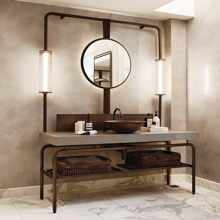 不锈钢洗手台 酒店卫浴台 艺术桌 试衣镜 艺术商业展示家具