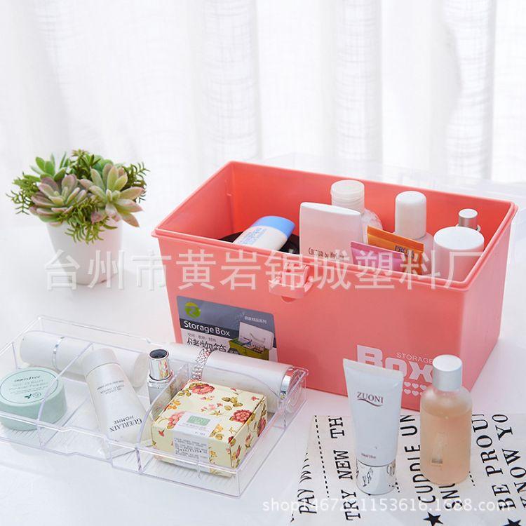 家庭双层药箱便携手提药品箱家用密封保健箱收纳盒 一件圆通代发