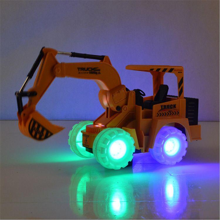 电动儿童挖机电动玩具工程车推土机挖土机灯光音乐地摊淘宝卖货
