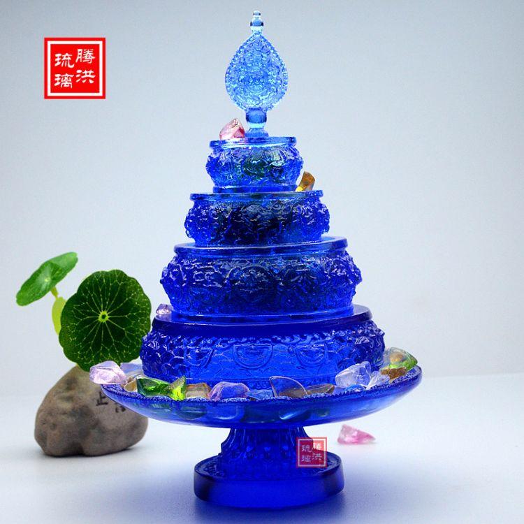 腾洪琉璃古法琉璃曼扎现货 佛教用品曼扎盘法器 供养曼扎盘一件代发