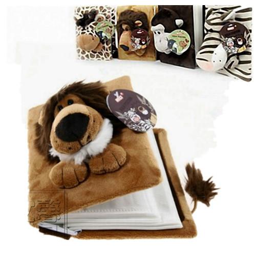满减包可爱动物立体毛绒相册6寸卡通影集宝宝相册插页式毛绒玩具