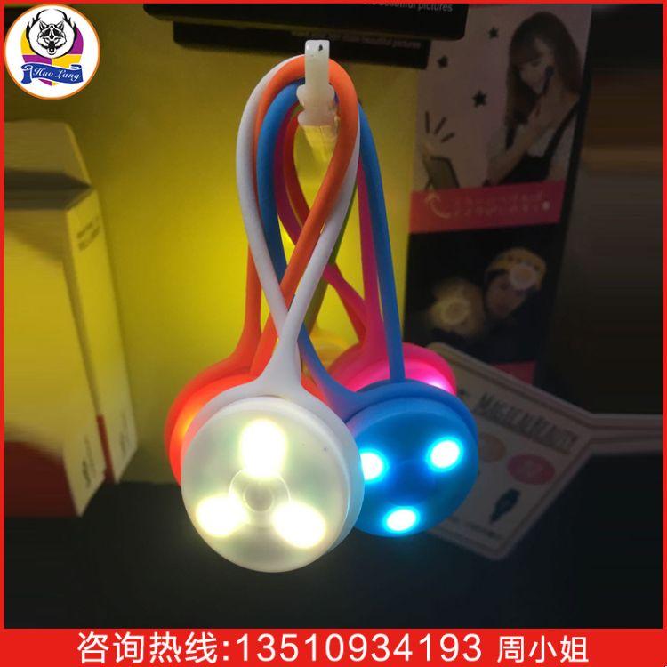 创意年会广告礼品LED发光背包灯 塑料夜跑警示灯 信号灯定制