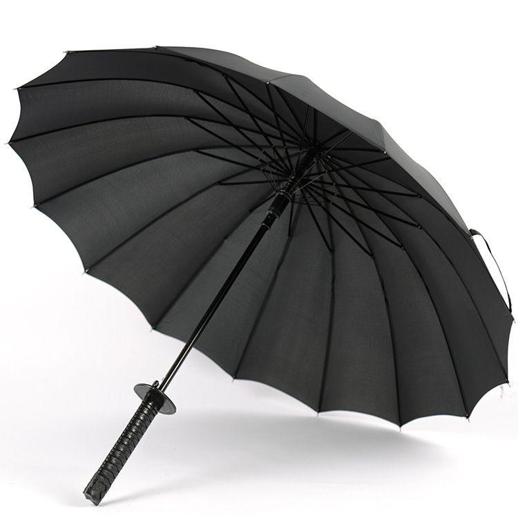 大雨伞批发16骨自动双人高尔夫伞 广告伞定制logo直杆高尔夫伞