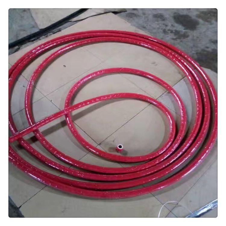 宇星生产 内白外红夹线弹性橡胶管耐高温胶管食品级工业硅胶管